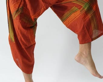 HC0130 Samurai Pants  - elastic waistband and cuffs - Fits all!  Unisex pants