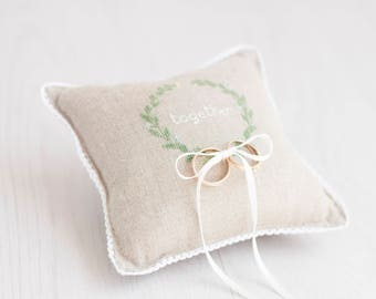 Ring Pillow Wedding Etsy: Personalized gifts with cross stitch by RedPin on Etsy,