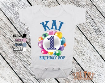 Bodysuit or Toddler Shirt, Birthday Personalized Name, Baby Bodysuit, Baby Shower Gift, Girls, Boys