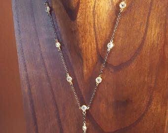 Beautiful Crystal Y styled Necklace