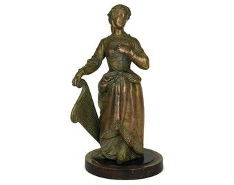 Victorian Lady Figurine with Harp.
