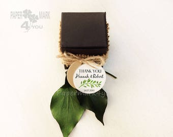 100 Wreath Personalized Wedding Tag_Round Thank You Tag_ Grazie Etichette _Merci_Wedding Place Card _ Highly Personalizable Tag_Rustic Tag