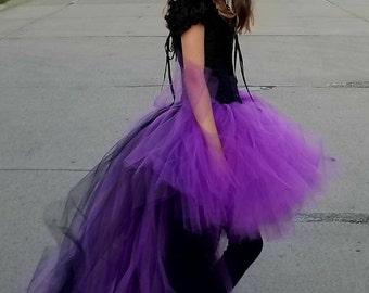 Halloween Tutu- Adult Tutu - Villian Tutu -Tulle Skirt - Adult Costume- Tutu -Cosplay -Adult Tutu Skirt -Race Tutu - Villian Costume-highlow