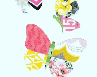 Butterfly Paper Patchwork Art