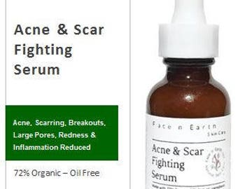 SAMPLE - Acne & Scar Fighting Acne Spot Treatment Serum 72% Organic with Salicylic Acid.  Oil Free Blemish Control VEGAN