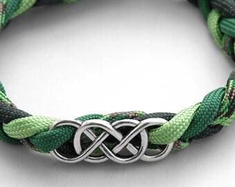 Celtic Bracelet, Braided Celtic Bracelet, Celtic Jewelry, Green Bracelet, Celtic Knot, Cord Bracelet, Irish Jewelry, Irish Bracelet