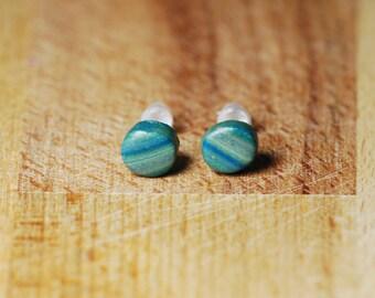 Unisex Earrings - Tiny Stud Earrings - Polymer Clay Earrings - Cute Earrings - Hypoallergenic Earrings For Sensitive Ears - Fimo Jewellery -