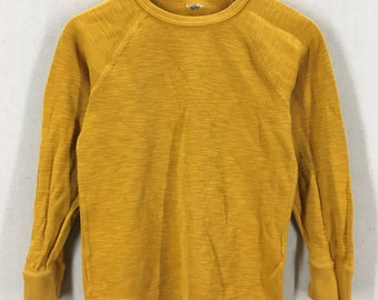 Vintage Single V Yellow Cotton Thermal Shirt XS/S