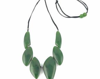 6 Piece Canadian Jade Necklace