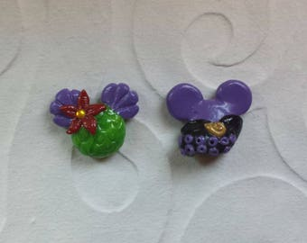 Ursula and Ariel Mickey Ear Earrings - The Little Mermaid