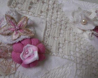 Tassels stylish white and bright pink flowers to order