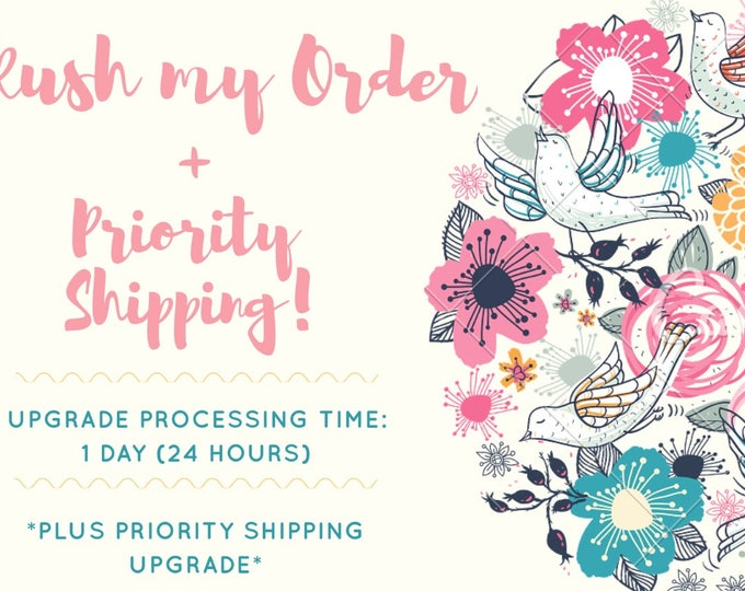 Rush My Order + Shipping Upgrade, Expedite