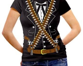 Womens Bandido Pistolero Bandolero Mariachi Cinco de Mayo Costume T-Shirt