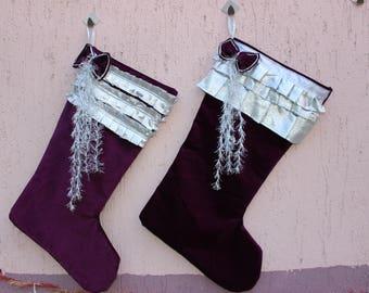 Velvet stockings | Etsy