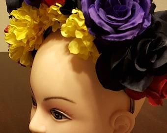 Day of the dead headpiece, Dia de los muertos headpiece, flower crown, halloween ideas