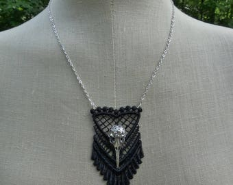 Raven Pennant Necklace