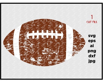 football SVG Cut File distressed football svg DXF cut file Cricut svg Silhouette svg Vinyl Cut File Digital cut file Cricut cut file