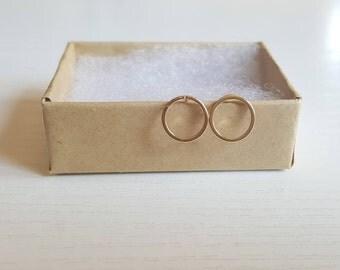 Dainty Hoop Earrings, Gold Hoop Earrings, Silver Hoop Earrings, Simple Hoop Earrings, Gold Stud Earrings, Minimal Geometric Studs