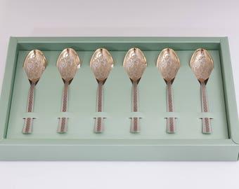 6 Tea spoon set, spoon, unique wedding gift, coffee, vintage spoon, Personalised cutlery set tea, engraved cutlery, Engraved Tea Spoon,