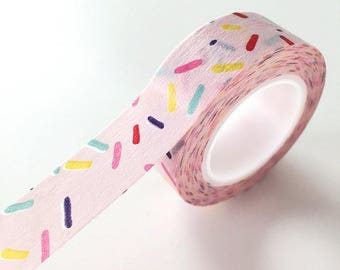 Pink Sprinkles Washi Tape planner sticker tape packaging