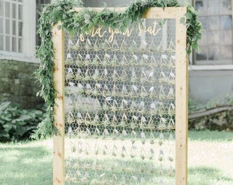 Find Your Seat Escort Card Sign Letters Wooden Cutout Words for Escort Place Cards Display Sign Wedding Reception Decoration (Item - FYS200)