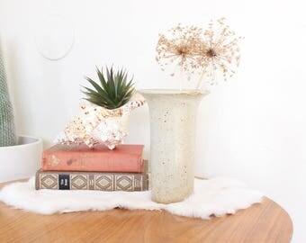 Vintage Planter Pot Ceramic Studio Pottery Hand Thrown Stoneware Brown Tan Earth Tones Ceramic Cactus Succulent Pot