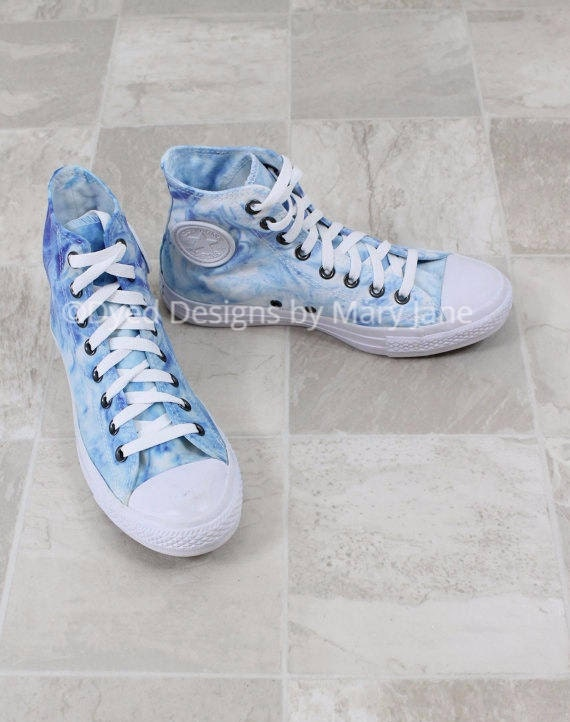 Chuck Taylor All Stars Converse High Top Shoes Blue Marble