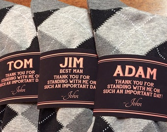 Personalized Wedding Party Socks Label and Groomsman Gift Socks | Groomsmen Sock Label Wedding Socks | Wedding Sock Label Wedding Party Sock