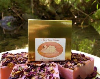 Soap - Rosalina Swan - All Natural Soap, Palmarosa Soap, Cold Process Soap, Rose Soap, Moisturizing Soap, Animal Soap, Shea butter Soap