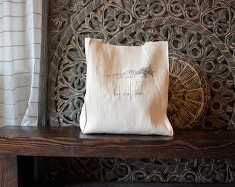 Canvas Tote Bag, Reusable Grocery Bag, Shopping Bag, Cotton Farmer's Market Bag, Reusable Tote Bag, Vegetarian, Vegan