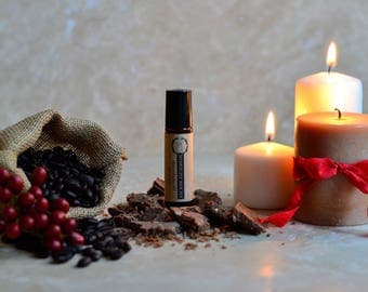 MIDNIGHT MOCHA Perfume Oil - Natural Perfume - Perfume Roll On - Coffee Perfume/ Natural Fragrance/Travel Perfume/Vegan Perfume/Gift for Mom