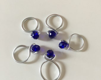 Cobalt Loop Snagless Stitch Markers