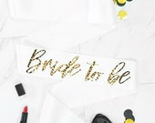 Bride To Be Cheetah Print Foil Sash | Bridal Party Sash | Bachelorette Party Sash | Hen Party
