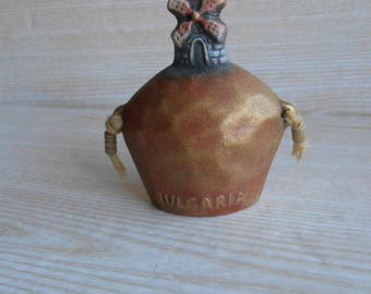 Vintage Ceramic bell, Pottery Bell, Decorative bell,  Bell decoration,  Souvenir from Bulgaria