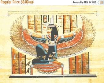 On SALE goddess isis egyptian - 331 x 248 stitches - Cross Stitch Pattern Pdf - INSTANT Download - B1252