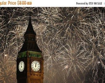 Big Ben with the fireworks 441 x 287 stitches Counted Cross Stitch Pattern needlepoint kreuzstitch point de croix korss B670