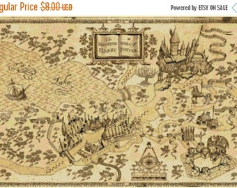 Harry potter Cross Stitch Pattern Pdf marauder's map pattern point de croix - 351 x 233 stitches - INSTANT Download - B1321