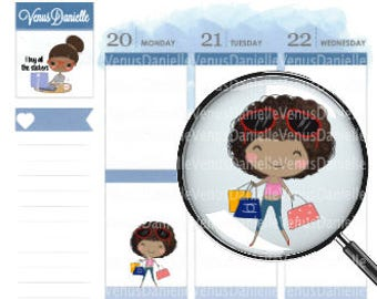 Shopping Girl Planner Stickers