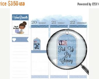 On Sale Dry Cleaning Pick Up Planner Stickers, Dry Cleaning, Functional Stickers, Reminder Stickers, Dry Cleaning Drop Off, EC