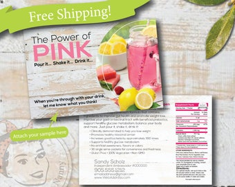 plexus sample postcard, CUSTOM plexus postcard, slim sample postcard, plexus swag - Free Shipping