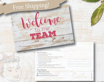 plexus welcome to the team postcard, CUSTOM plexus postcard, plexus swag - Free Shipping