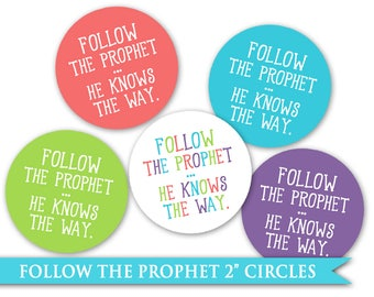 Follow the prophet etsy 2 circles lds follow the prophet sticker printable avery template 22807 gift craft idea pronofoot35fo Images