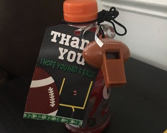 Football Party favor gift tag