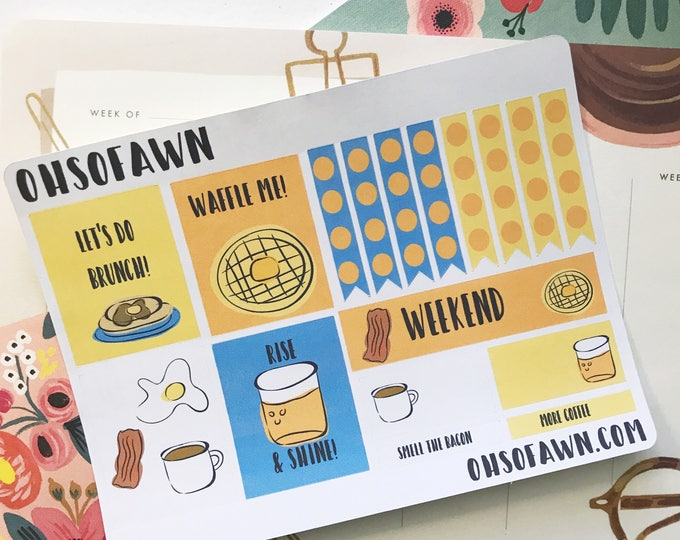 Breakfast Weekly Sticker Kit