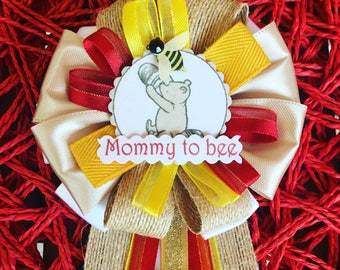 Winnie the Pooh Inspired - Baby Shower Corsage - Classic Pooh