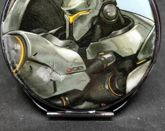 Overwatch Reinhardt Compact Mirror