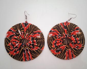 African fabric earrings