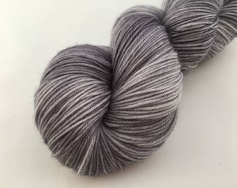 Hand dyed yarn Victoria sock -'Silver lining'