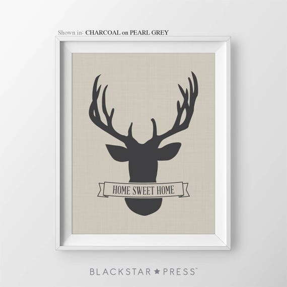 Items similar to deer print home sweet home sign new home for New home sign