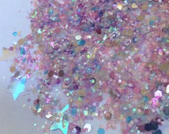 Dusk Dust (Loose Glitter ~6 grams): face, makeup, hair, nail art, festival glitter, costume, unicorn, rave makeup, edc, body glitter, edm